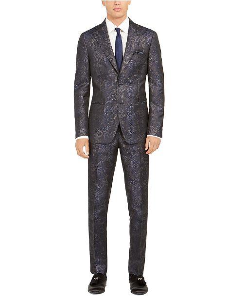 Tallia Men's Slim-Fit Snakeskin Suit Separates