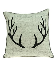 Meska Lodge Tan Pillow Cover with Polyester Insert