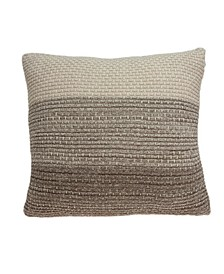Camden Transitional Tan Pillow Cover With Down Insert