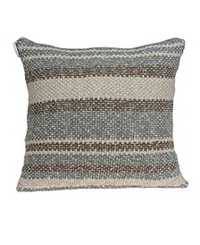 Bima Transitional Tan Pillow Cover With Down Insert