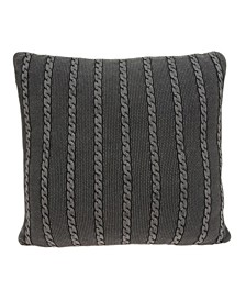 Chico Transitional Charcoal Pillow Cover