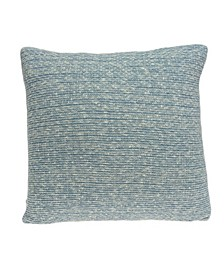 Tobi Transitional Blue Pillow Cover with Polyester Insert