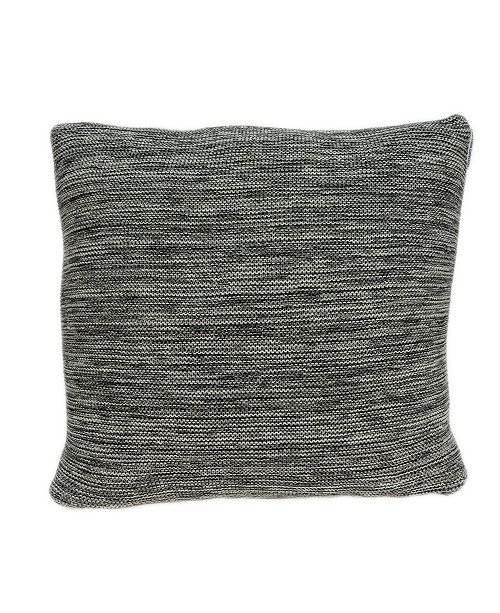Parkland Collection Diani Transitional Grey Pillow Cover With Down Insert