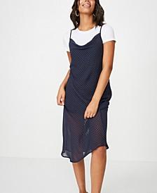 Woven Roxy Midi Slip Dress