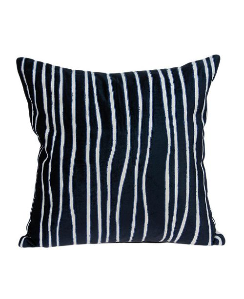 Parkland Collection Aya Transitional Blue Pillow Cover With Down Insert