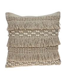 Parkland Collection Paloma Bohemian Beige Pillow Cover With Poly Insert
