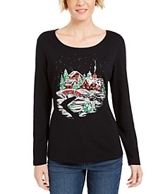 Glitter Graphic Holiday Shirt, Created For Macy's