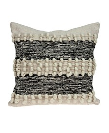 Parkland Collection Harlow Bohemian Beige Pillow Cover With Poly Insert