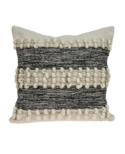Parkland Collection Harlow Bohemian Beige Pillow Cover with Polyester Insert