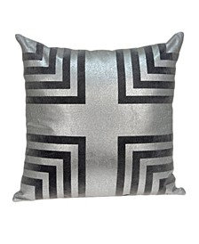 Aantra Transitional Grey Pillow Cover With Down Insert