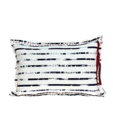 Oceana Nautical White Pillow Cover With Down Insert