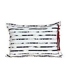 Parkland Collection Oceana Nautical White Pillow Cover With Down Insert
