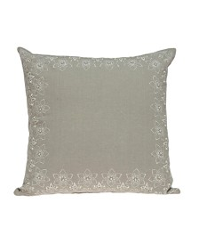 Parkland Collection Neera Transitional Beige Pillow Cover With Poly Insert