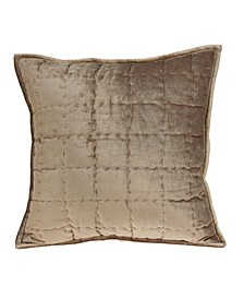 Transitional Solid Quilted Pillow Cover with Polyester Insert