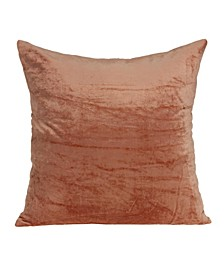 Sunstone Transitional Orange Solid Pillow Cover with Polyester Insert