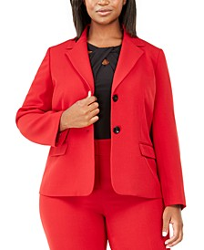 Plus Size Two-Button Blazer