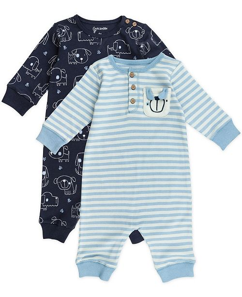 Mac & Moon Baby Boy 2-Pack Unionsuits