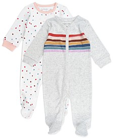 Baby Girl 2-Pack Footed Sleep and Play