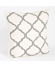 "Moroccan Design Beaded Throw Pillow, 18"" x 18"""