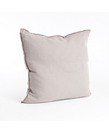 "Fringed Design Linen Throw Pillow, 20"" x 20"""