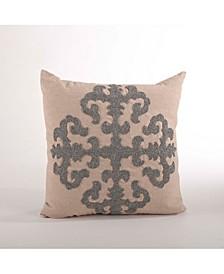 "Beaded Lattice Design Throw Pillow, 18"" x 18"""