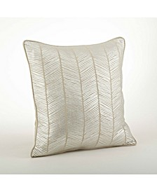 "Metallic Herringbone Design Throw Pillow, 20"" x 20"""