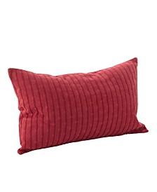 """Textured Stripe Design Cotton Throw Pillow, 14"""" x 23"""""""