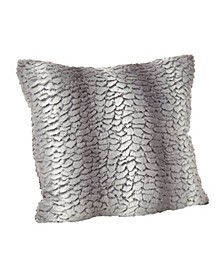 "Juneau Faux Fur Throw Pillow, 18"" x 18"""