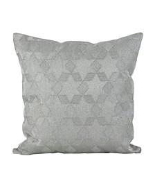 "Stitched Star Design Cotton Throw Pillow, 18"" x 18"""