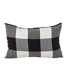 """Buffalo Check Plaid Design Cotton Throw Pillow, 13"""" x 20"""""""