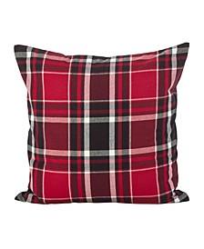 "Tartan Plaid Pattern Cotton Throw Pillow, 20"" x 20"""