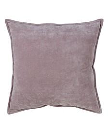 "Solid Cotton Velvet Throw Pillow, 20"" x 20"""