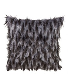 "Faux Fur Design Throw Pillow, 18"" x 18"""