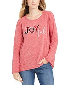 Petite Joyful Graphic Sweatshirt, Created For Macy's