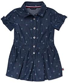 Baby Girls Star-Print Cotton Romper Dress