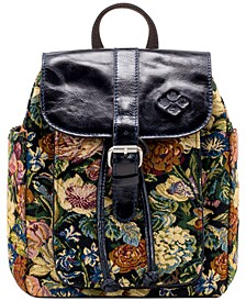 Woven Floral Tapestry Aberdeen Backpack