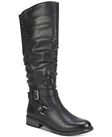 Liona Wide-Calf Riding Boots
