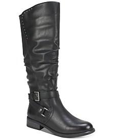 White Mountain Liona Wide-Calf Riding Boots