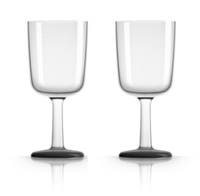 by Palm Tritan Forever-Unbreakable Wine Glass with Black non-slip base, Set of 2