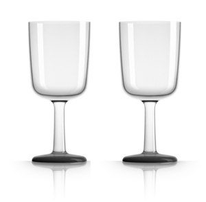 Marc Newson by Palm Tritan Wine Glass with Black non-slip base, Set of 2