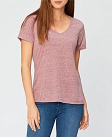 Triblend V-Neck Basic Tee-Shirt