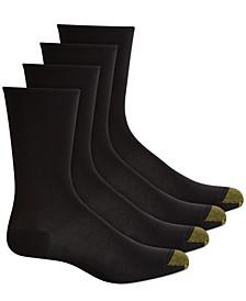 Women's 4 Pack Ultra-Soft Flat-Knit Crew Socks