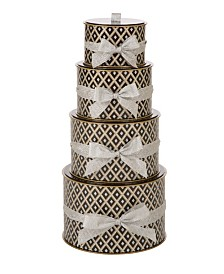 Glitzhome 4 Piece Round Gift Box Set