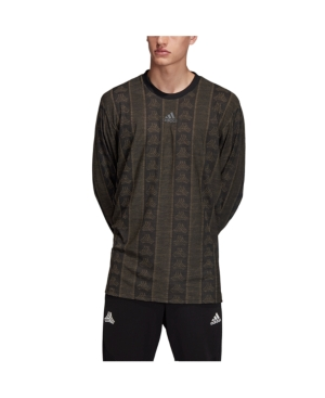 Adidas Originals Men's Tango Long Sleeved Soccer Jersey In Black