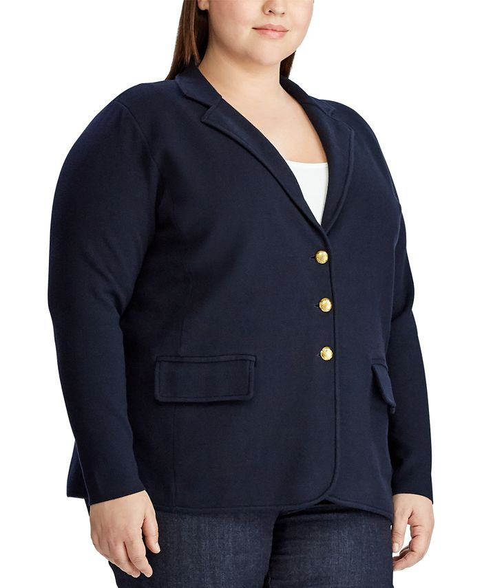 Lauren Ralph Lauren - Plus Size Sweater Knit Blazer
