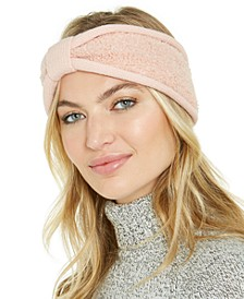Knit and Faux-Sherpa Loop Headband