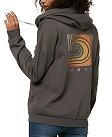 Juniors' Graphic-Print Fleece Hoodie