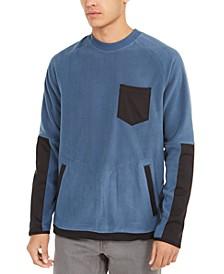 Men's Mix-Media Colorblocked Fleece Sweater