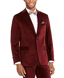 Men's Slim-Fit Velvet Dinner Jacket