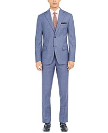 Men's Slim-Fit Plaid Suit Separates